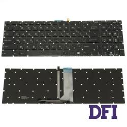 Клавиатура для ноутбука MSI (GV62, GT62) rus, black, без фрейма, подсветка клавиш