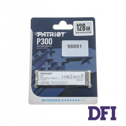 Жесткий диск M.2 2280 SSD  128Gb Patriot P300 Series, PCI Express 3.0 x4, 3D TLC, зап/чт. - 600/1600Мб/с (P300P128GM28)