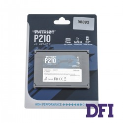 Жесткий диск 2.5 SSD 1Tb Patriot P210 Series, P210S1TB25 (Latest SATA 3 controller), TLC 3D, SATA-III 6Gb/s, зап/чт. - 430/520мб/с