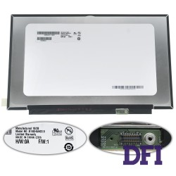 Матрица 14.0 B140HAN03.8 (1920*1080, 30pin(eDP, MIPI, 300cd/m2 (!!!), 16.2M, 72% NTSC, IPS), LED, SLIM (без планок и ушек), глянец, разъем справа внизу) для ноутбука