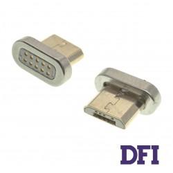 Адаптер для кабеля Clip-On Метал для MicroUSB , (магнитный)
