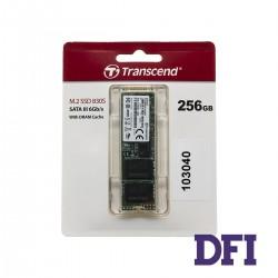 Жесткий диск M.2 2280 SSD  256Gb Transcend MTS830S Series, SATA-III 6Gb/s, 3D-NAND TLC, зап/чт. - 410/560Мб/с (TS256GMTS830S)