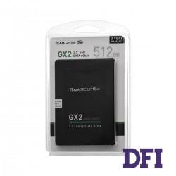 Жесткий диск 2.5 SSD  512Gb Team GX2 Series, T253X2512G0C101, TLC, SATA-III 6Gb/s, зап/чт. - 430/530мб/с