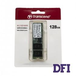 Жесткий диск M.2 2280 SSD 128Gb Transcend MTS830S Series,  SATA-III 6Gb/s, 3D-NAND TLC, зап/чт. - 380/560Мб/с (TS128GMTS830S)