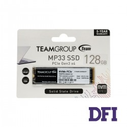 Жесткий диск M.2 2280 SSD  128Gb Team MP33  Series, PCIe 3.0 x4 with NVMe 1.3, 3D TLC, SATA-III 6Gb/s, зап/чт. - 500/1500Мб/с (TM8FP6128G0C101)