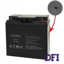 УЦЕНКА! ВМЯТИНА НА КОРПУСЕ! Аккумуляторная батарея SUNREX SR12-18, Емкость: 18Ah, 12V, 5.18kg,размеры: 181х77х167мм (ИБП UPS)