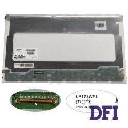 Матрица 17.3 LP173WF1-TLF3 (1920*1080, 40pin, LED, NORMAL, матовая, разъем слева внизу) для ноутбука