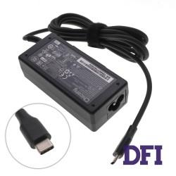Оригинальный блок питания для ноутбука ACER USB-C 45W (15V3A, 12V3A, 9V3A, 5V2A), USB3.1/Type-C/USB-C, Black (Квадратный) (С ВИЛКОЙ!)