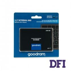 Жесткий диск 2.5 SSD  256Gb Goodram CX400 Series, SSDPR-CX400-256-G2, TLC 3D, SATA-III 6Gb/s, зап/чт. - 480/550мб/с
