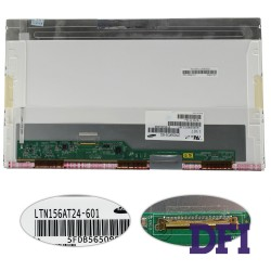 Матрица 15.6 LTN156AT24-W (1366*768, 40pin, LED, NORMAL, глянцевая, разъем слева внизу) для ноутбука