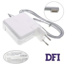 Блок питания для ноутбука APPLE MagSafe 16.5V, 3.65A, 60W, white, квадратный, с евро-адаптером (A1184, A1330, A1344, A1278), L-образный разъём MagSafe