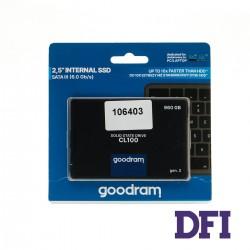 Жесткий диск 2.5 SSD  960Gb Goodram CL100 Series, SSDPR-CL100-960-G3, TLC NAND, SATA-III 6Gb/s, зап/чт. - 460/540мб/с