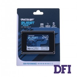 Жесткий диск 2.5 SSD  240Gb Patriot Burst Elite Series, PBE240GS25SSDR, 3D QLC, SATA-III 6Gb/s, зап/чт. - 320/450мб/с