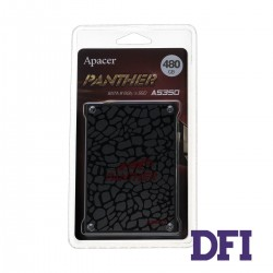 Жесткий диск 2.5 SSD  480GB Apacer AS350 PANTHER Series, AP480GAS350-1, TLC NAND, SATA-III 6Gb/s, зап/чт. - 510/540мб/с