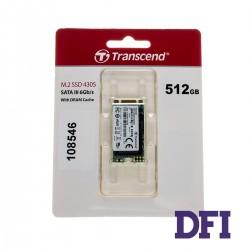 Жесткий диск M.2 2242 SSD 512Gb Transcend MTS430S Series, TS512GMTS430S, 3D TLC NAND, зап/чт. - 500/560мб/с