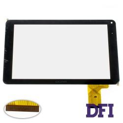 Тачскрин (сенсорное стекло) FX-C9.0-0069A-F-01, 9, внешний размер 234*137 мм, рабочий размер 197*115 мм, 50 рin, черный