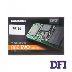 Жесткий диск M.2 2280 SSD  250Gb Samsung 860 EVO, MZ-N6E250BW, 3bit MLC, SATA-III Rev. 3.0 6Gb/s, зап/чт. - 520/550мб/с