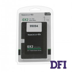 Жесткий диск 2.5 SSD 1Tb Team GX2 Series, T253X2001T0C101, TLC, SATA-III 6Gb/s, зап/чт. - 480/530мб/с