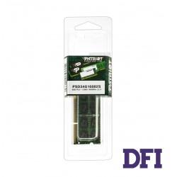 Модуль памяти SO-DIMM DDR3 4GB 1600Mhz PC3-12800 Patriot Signature Line Series, 1.5V, CL11 (PSD34G16002S)