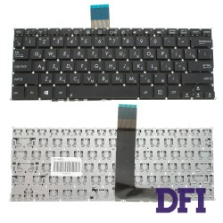 Клавиатура для ноутбука ASUS (F200, R202, X200 series) rus, black, без фрейма