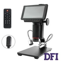 Цифровой микроскоп Andonstar ADSM302, LCD 5' экран, увеличение 1~560x, 1080P, MOV+jpeg, microSD до 32Gb, выход HDMI/AV, фокусировка от 5 до 22см, black