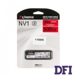 Жесткий диск M.2 2280 SSD  500Gb Kingston SNVS Series, SNVS/500G, 3D NAND, PCIe NVMe 3.0 x4, зап/чт. - 1700/2100Мб/с