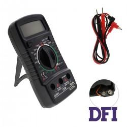 Цифровой мультиметр Excellent XL830L с ручным выбором диапазонов (200mV-600V, 200мкА-10A, 200Ом-2МОм)