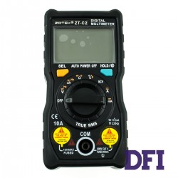 Цифровой Мультиметр ZOTEK ZT-C2 True RMS с автоматическим выбором диапазонов (40mV-600V, 40mА-10A, 400Ом-40МОм, 4Гц-3Мгц, проверка диодов)