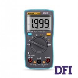 Цифровой Мультиметр ZOTEK ZT98 True RMS с автоматическим выбором диапазонов (200mV-1000V, 200µА-200mA, 200Ом-20МОм, 40Гц-400гц, проверка диодов)