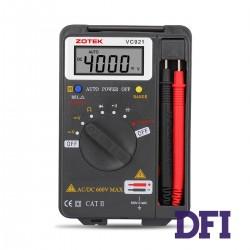 Цифровой Мультиметр ZOTEK VC921 True RMS с автоматическим выбором диапазонов (400mV-600V, 100mА-10A, 400Ом-40МОм, 4нФ-200мФ, 100Гц-10Мгц, проверка диодов)