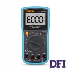 Цифровой Мультиметр ZOTEK VC15B+ True RMS с автоматическим выбором диапазонов (600mV-1000V, 600mА-20A, 600Ом-60МОм, 10нФ-10000мФ, 1Гц-20Мгц, проверка диодов)
