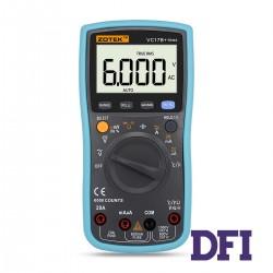 Цифровой Мультиметр ZOTEK VC17B+ True RMS с автоматическим выбором диапазонов (600mV-1000V, 600mА-20A, 600Ом-60МОм, 10нФ-10000мФ, 10Гц-10Мгц, проверка диодов, измерение температуры (-20...1000 С))