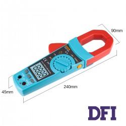 Цифровой Мультиметр ZOTEK VC903 (токоизмерительные клещи) True RMS с автоматическим выбором диапазонов (600mV-1000V, 600mА-1200A, 600Ом-60МОм, 10нФ-40000мФ, 100Гц-20000Мгц, проверка диодов, измерение температуры (-40...1000 С))
