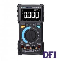 Цифровой Мультиметр ZOYI ZT-M1 True RMS с автоматическим выбором диапазонов (800mV-1000V, 800mА-20A, 800Ом-80МОм, 10нФ-10мФ, 100Гц-10Мгц, проверка диодов, измерение температуры (-20...1000 С))