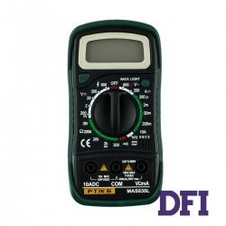 Цифровой Мультиметр MASTECH MAS830L True RMS с ручным выбором диапазонов (200mV-600V, 200мкА-10A, 200Ом-2МОм, проверка диодов)