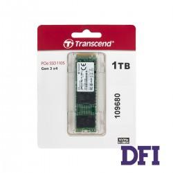 Жесткий диск M.2 2280 SSD 1Tb Transcend, TS1TMTE110S, NVMe PCI Express 3.0 x4, 3D NAND TLC,  зап/чт. - 1500/1700Мб/с (TS1TMTE110S)