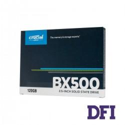 Жесткий диск 2.5 SSD  120Gb Crucial BX500 Series, CT120BX500SSD1, 3D NAND TLC, SATA III 6Gb/s,  зап/чт. - 500/540мб/с