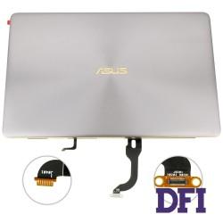 Матрица (крышка в сборе с петлями и шлейфом) для ноутбука ASUS (UX490, UX490UA), silver