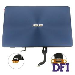 Матрица (крышка в сборе с петлями и шлейфом) для ноутбука ASUS (UX490, UX490UA), blue