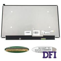 Матрица 15.6  NV156QUM-N51 (3840*2160, 40pin(eDP, IPS, 300cd/m2, цветопередача: 100%RGB), LED, SLIM(без планок и ушек), глянец, разъем справа внизу) для ноутбука