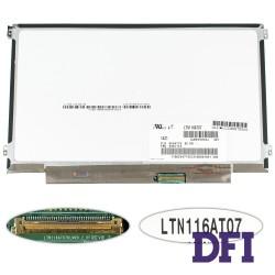 Матрица 11.6 LTN116AT07 (1366*768, 40pin, LED, SLIM (горизонтальные ушки), матовая, разъем справа внизу) для ноутбука