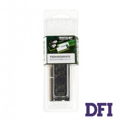 Модуль памяти SO-DIMM DDR4 4Gb 2666Mhz PC4-21300 Patriot Signature Line Series, 1.2V, CL19-19-19-39 (PSD44G266682S)