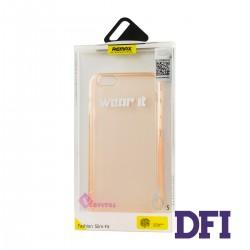Чехол REMAX Защитный , прозрачный , прорезиненный , для iPhone 6 / 6S , розовый