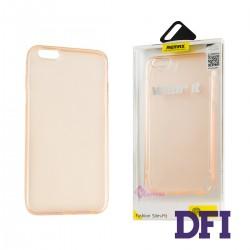Чехол REMAX Защитный , прозрачный , прорезиненный , для iPhone 6 Plus / 6S Plus , розовый
