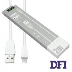 Кабель GOLF GC-27i Lightning для iPhone 5 / 5s / 6 / 6 Plus , iPad Air 2 , white 2m