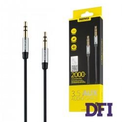 Аудио кабель REMAX 3.5mm Aux Jack , черный , 2м