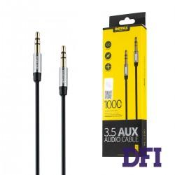 Аудио кабель REMAX 3.5mm Aux Jack , черный , 1м
