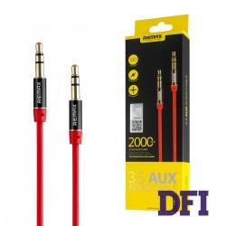 Аудио кабель REMAX 3.5mm Aux Jack , красный , 2м