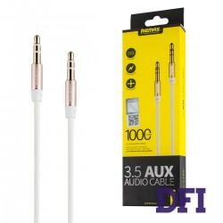 Аудио кабель REMAX 3.5mm Aux Jack , белый , 1м