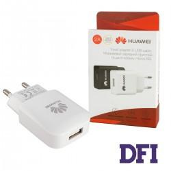 Зарядное устройство Huawei USB 2.0A , белый + microUSB кабель